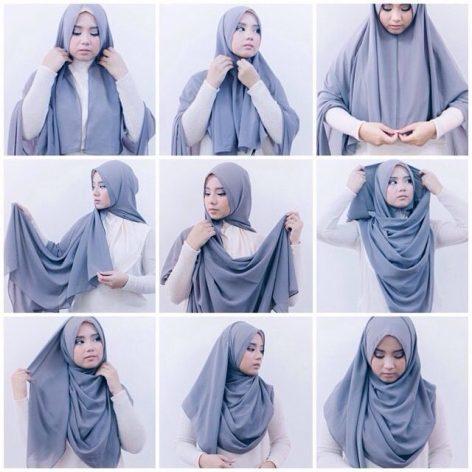 Cara Memakai Hijab Pashmina Kekinian Hijabfest