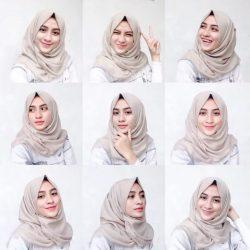 Tutorial Dan Tips Menggunakan Hijab Segiempat Simple Supaya Terlihat Lebih Tirus