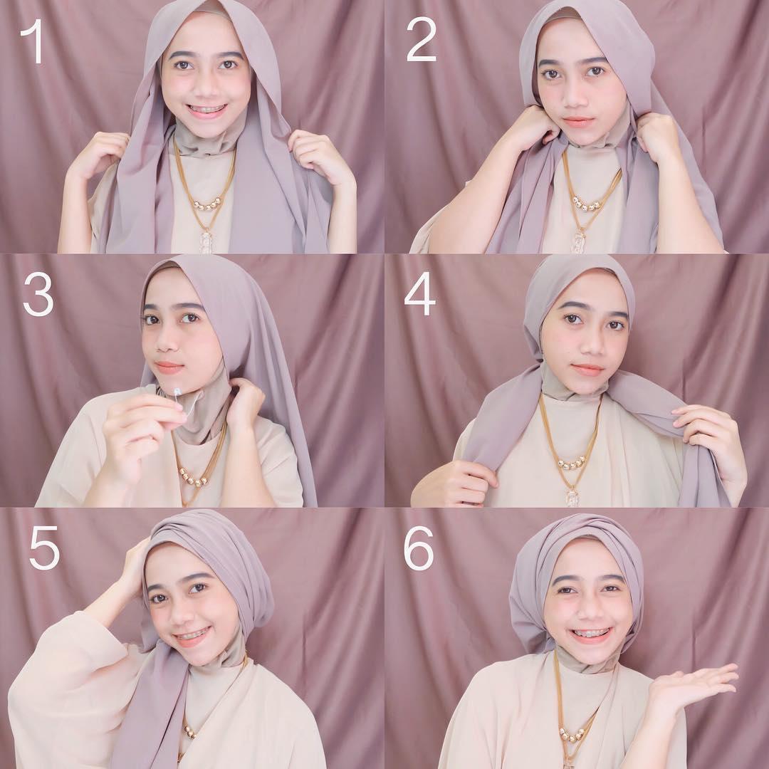 Tutorial Hijab Pesta yang Paling Oke