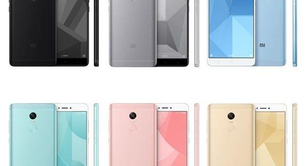 Xiaomi Redmi Note 4X Semua Warna